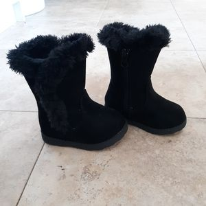 Baby Girl Fleece Zipper Boots